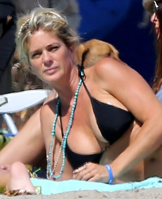 Rachel Hunter in Bikini in Malibu-05