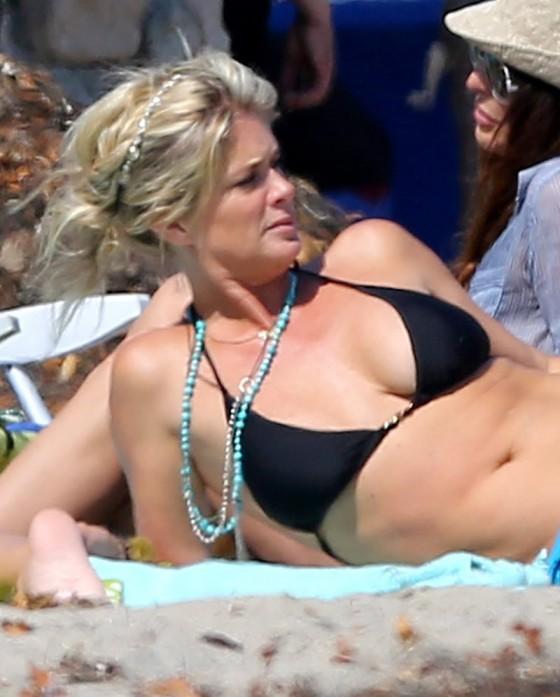 Rachel Hunter in Bikini in Malibu-21