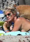 Rachel Hunter in Bikini in Malibu-22