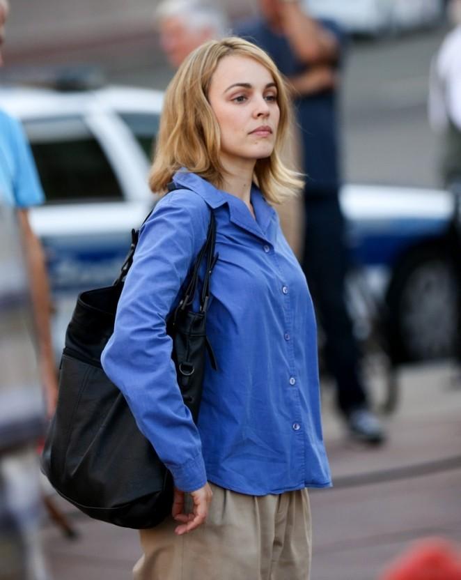 """Rachel McAdams - Filming """"Spotlight"""" Movie set in Boston"""