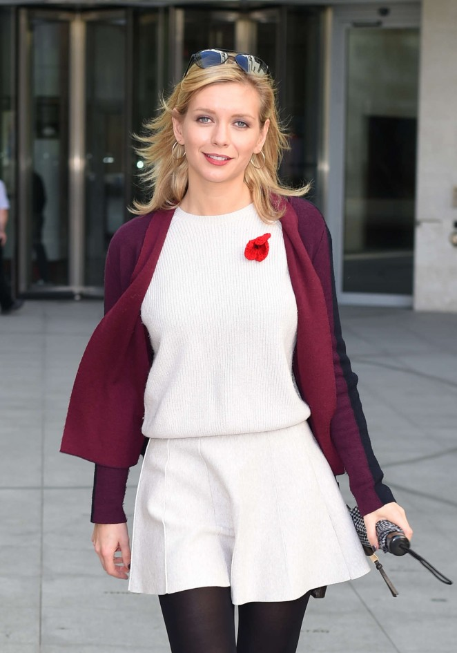 Rachel Riley in Mini Dress at the BBC Radio Studios in London
