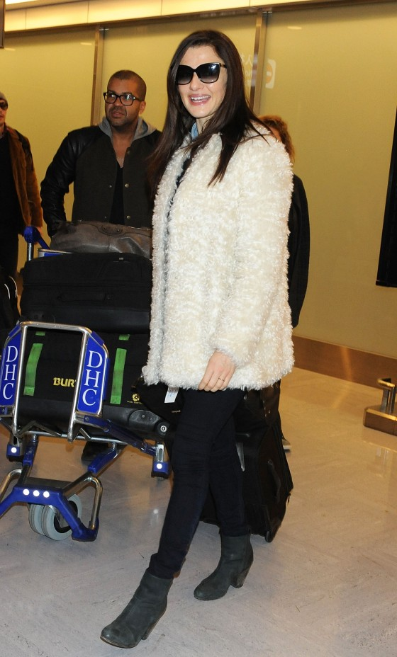 Rachel Weisz at Narita Airport -01