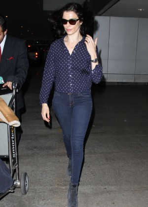 Rachel Weisz in Tight Jeans at LAX Airport in LA