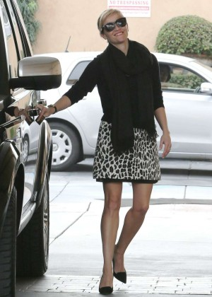 Reese Witherspoon in Mini Skirt at a gas station in LA