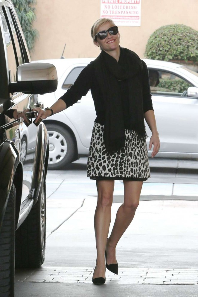 Reese Witherspoon at a gas station in LA