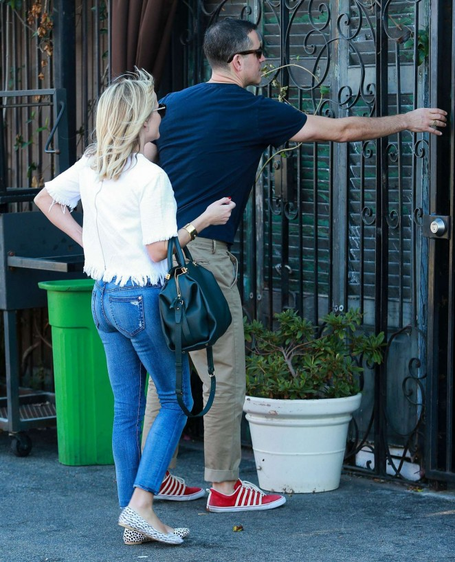 Reese Witherspoon with her husband out and about in LA