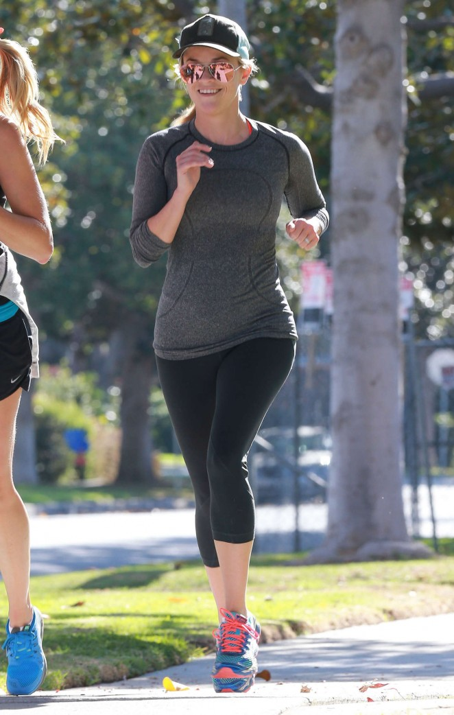 Reese Witherspoon – Jogging with friends in LA
