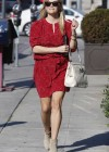 Reese Witherspoon - Leggy in red dress while out in LA