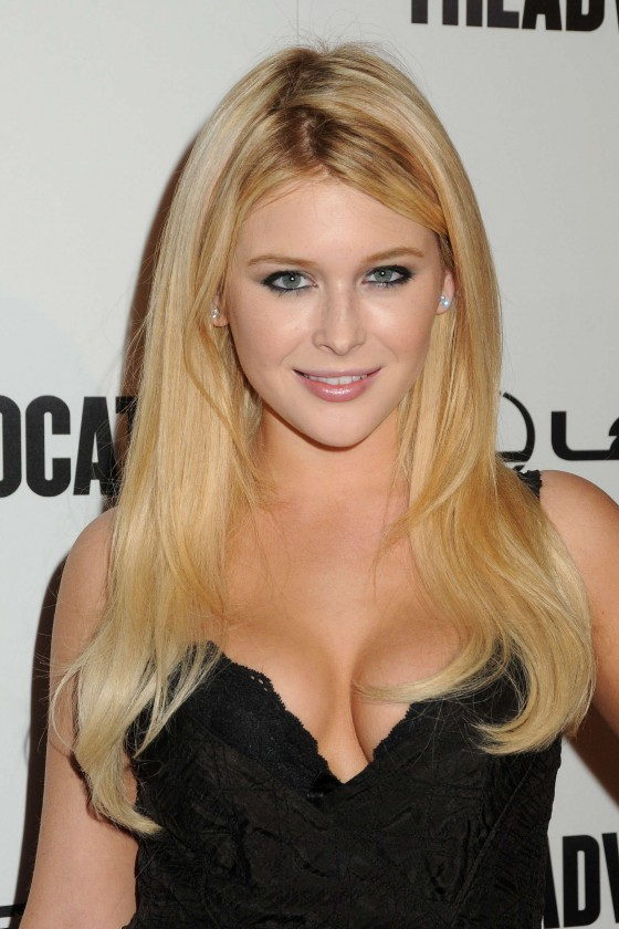 Renee Olstead cleavage at The Advocat 45th Anniversary