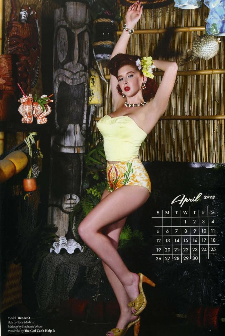 Renee Olstead - Tiki Calendar 2015