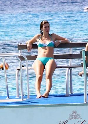 Rhea Durham in green bikini -18