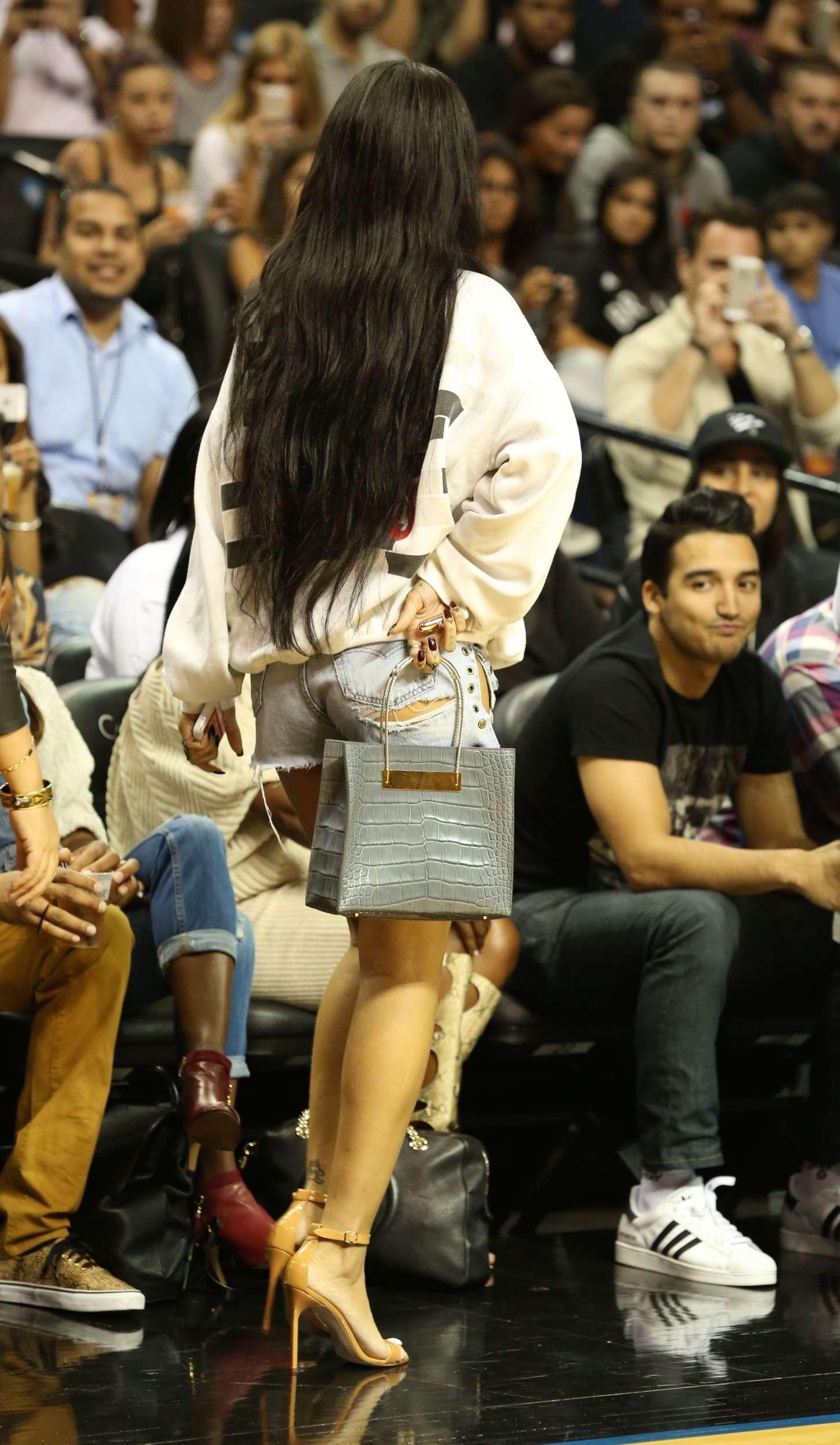 Rihanna in Shorts -14 ...