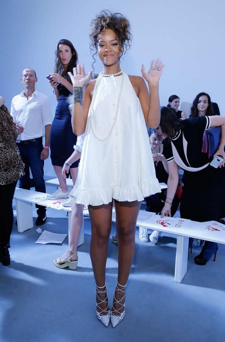 Rihanna Adam Selman Fashion Show In Nyc