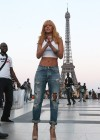 Rihanna and friends photoshoot in front of the Eiffel Tower-12