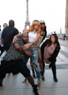 Rihanna and friends photoshoot in front of the Eiffel Tower-13