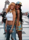 Rihanna and friends photoshoot in front of the Eiffel Tower-14