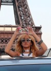 Rihanna and friends photoshoot in front of the Eiffel Tower-15