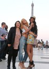 Rihanna and friends photoshoot in front of the Eiffel Tower-25