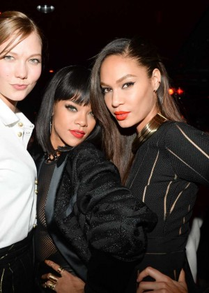 Rihanna: Balmain Paris Fashion Show 2014 After Party -02