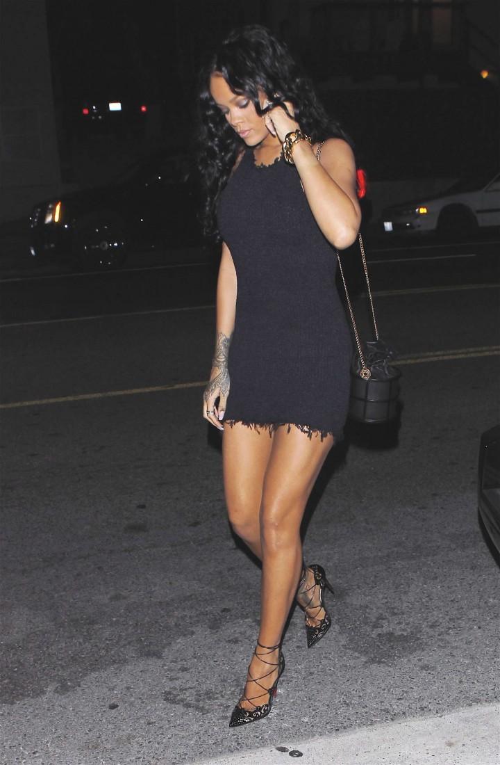 Rihanna at Giorgio Baldi Restaurant in Santa Monica