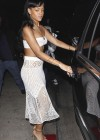 Rihanna in a white tube top-15