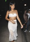 Rihanna in a white tube top-16
