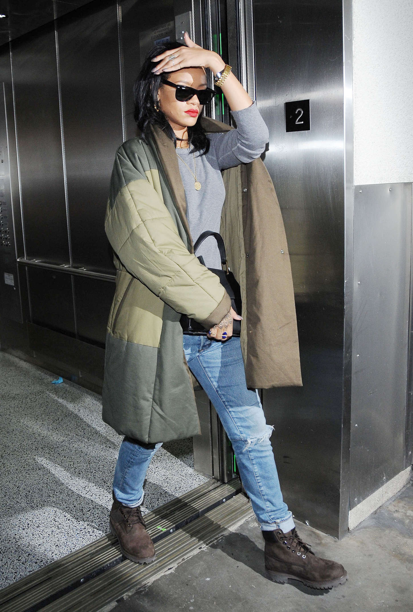 Rihanna - Arriving at LAX Airport in Los Angeles