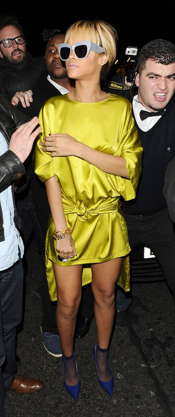 Rihanna Legs at Mahiki Bar Nightclub in London-05