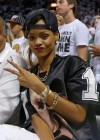Rihanna at Miami Heat Game -23