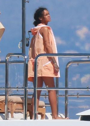 Rihanna in Pink Bikini -04