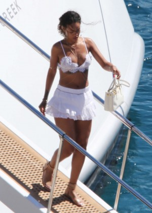 Rihanna in Bikini on Holidaying around the Med Calvi in Corsica