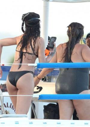 Rihanna in Black Bikini -21