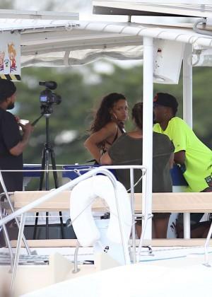 Rihanna in Black Bikini -26