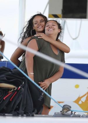Rihanna in Black Bikini -28