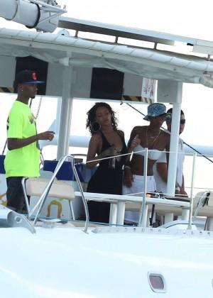 Rihanna in Black Bikini -39