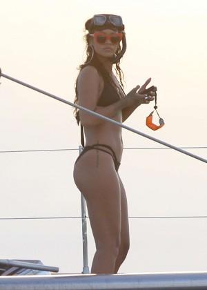 Rihanna in Black Bikini -41