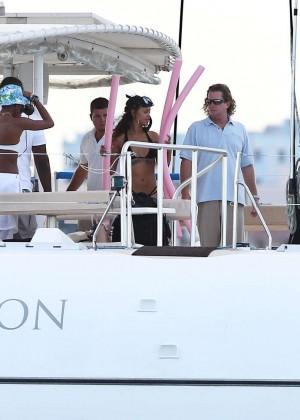 Rihanna in Black Bikini -43