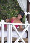 Rihanna - Hot in Pink Bikini in Barbados