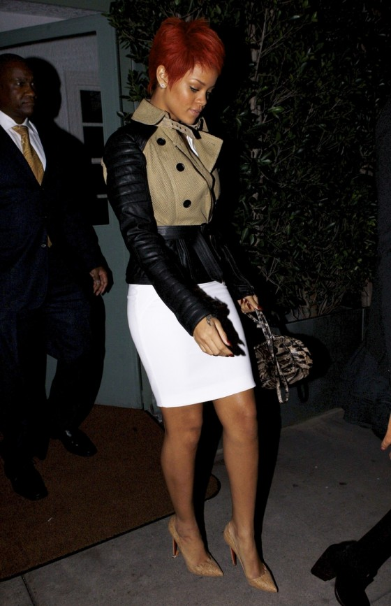Rihanna – Candids at Giorgio Baldi in Santa Monica