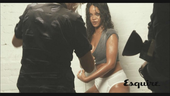 Rihanna - Esquire Magazine 2014 (Behind The Scenes)