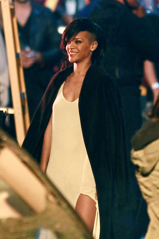 Rihanna  Diamonds music video shooting in LA