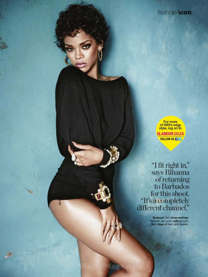 Rihanna: Glamour South Africa 2014 -04