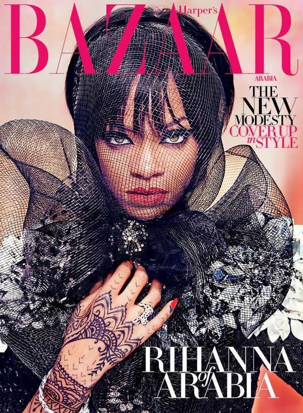 Rihanna 2014 : Rihanna: Harpers Bazaar Arabia 2014 -01