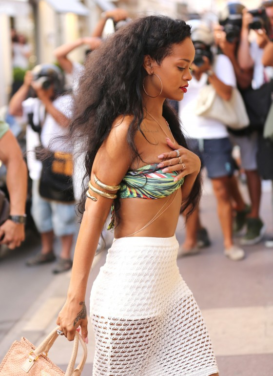 Rihanna - In a bikini top in St Tropez
