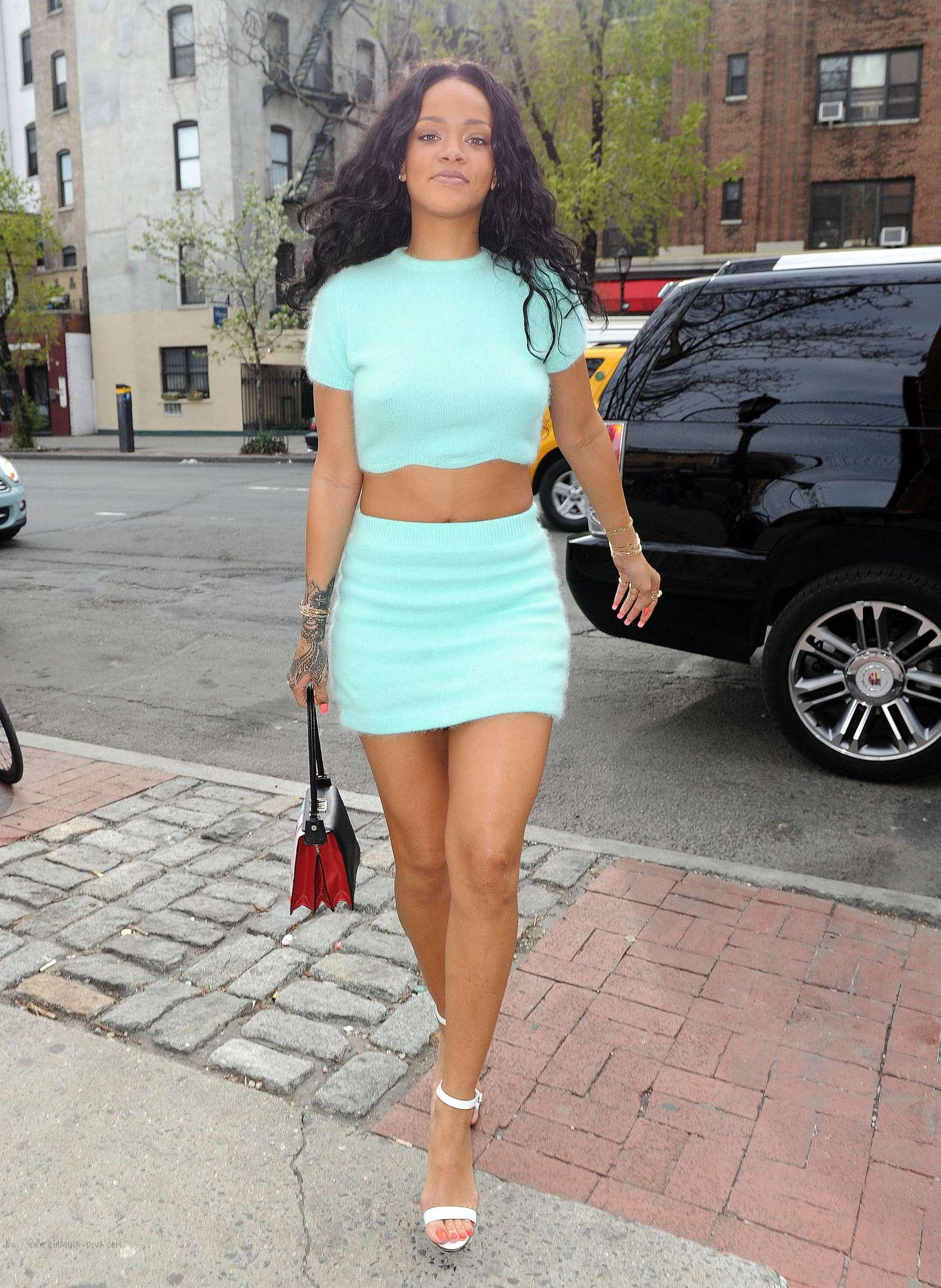 Rihanna in a skirt