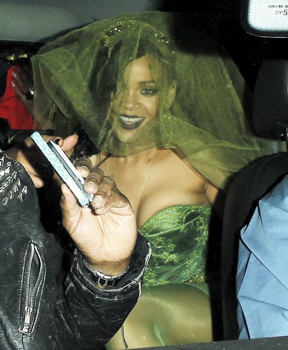 Rihanna - In Halloween Costume at Greystone Nightclub in Hollywood