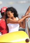 Rihanna In White Swimsuit in Cannes-07