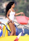 Rihanna In White Swimsuit in Cannes-09