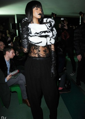 Rihanna: Jean Paul Gaultier Fashion Show -07