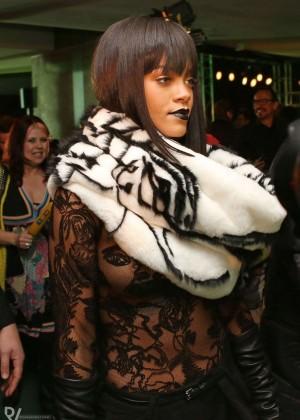 Rihanna: Jean Paul Gaultier Fashion Show -09